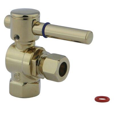 South Beach Angle Stop Valve Finish: Polished Brass