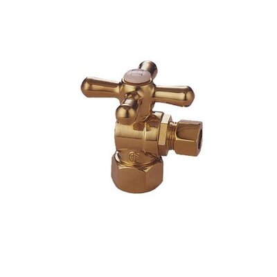 Decorative Quarter Turn Valves Finish: Polished Brass