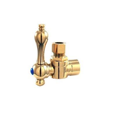2.75 Decorative Quarter Turn Valve with Lever Handle Finish: Polished Brass