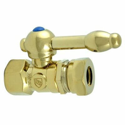 1.375 Decorative Quarter Turn Valves with Knight Lever Handle Finish: Polished Brass