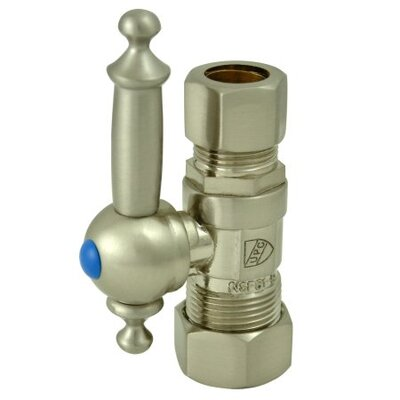 Decorative Quarter Turn Valves with Templeton Lever Handles Finish: Satin Nickel