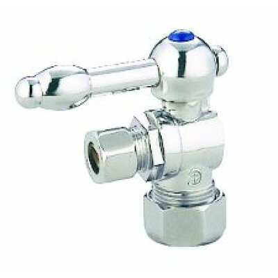 Decorative Quarter Turn Valves with Knight Lever Handles Finish: Polished Chrome