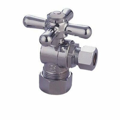 Accents Decorative Quarter Turn Valves with Cross Handles Finish: Polished Chrome