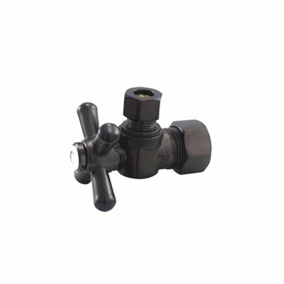 Accents Decorative Quarter Turn Valves with Cross Handles Finish: Dark Bronze