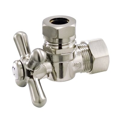 AQuarter Turn Valves with Cross Handles Finish: Polished Chrome