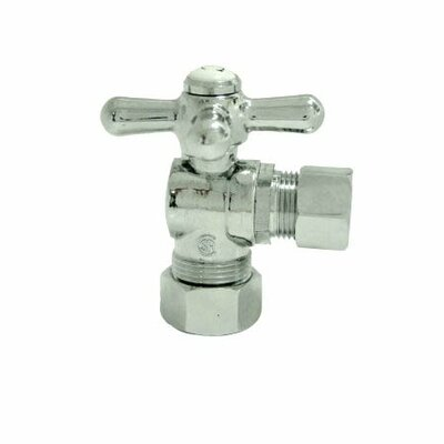 Decorative Quarter Turn Valves with Cross Handles Finish: Polished Chrome