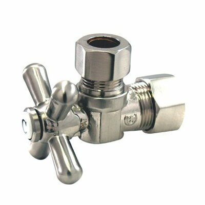 Decorative Quarter Turn Valves with Cross Handles Finish: Satin Nickel
