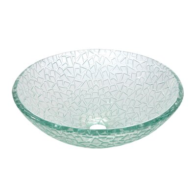 Nordica Glacier Glass Circular Vessel Bathroom Sink
