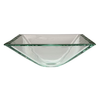 Glass Square Vessel Bathroom Sink