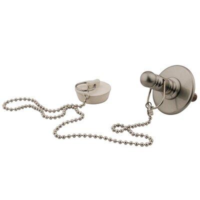 1.25 Chain and Plug Bathroom Sink Drain Finish: Satin Nickel