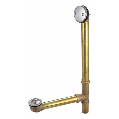 Twist N 1.5 Leg Tub Drain With Overflow Finish: Satin Nickel
