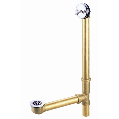 Twist N 1.5 Leg Tub Drain With Overflow Finish: Chrome