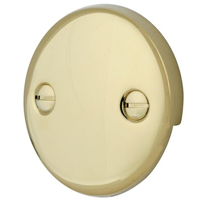 2 Hole Round Plate with Screw Finish: Polished Brass