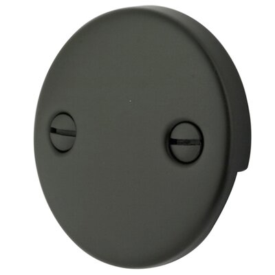 2 Hole Round Plate with Screw Finish: Oil Rubbed Bronze