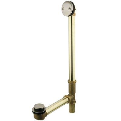 Leg Tub Tub Drain With Overflow Finish: Satin Nickel