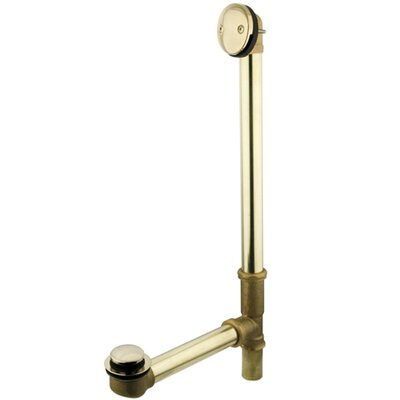Leg Tub Tub Drain With Overflow Finish: Polished Brass