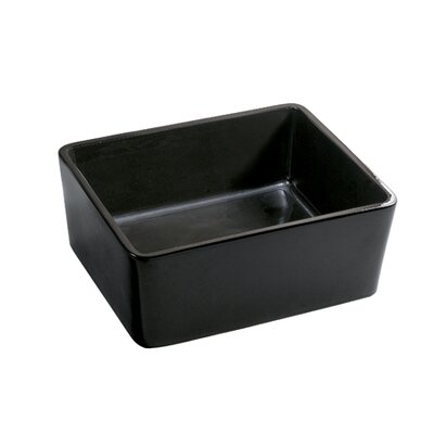 Elements Prime Rectangular Vessel Bathroom Sink Sink Finish: Black