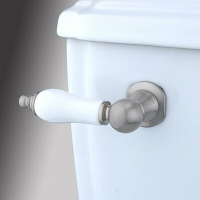 Made to Match Decorative Porcelain Tank Lever Arm Finish: Satin Nickel