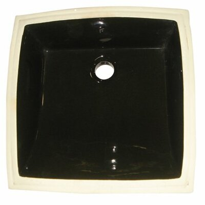 Cove Ceramic Square Undermount Bathroom Sink with Overflow Sink Finish: Black