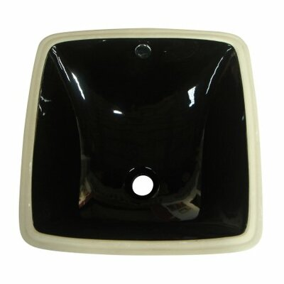 Vista Square Undermount Bathroom Sink with Overflow Sink Finish: Black