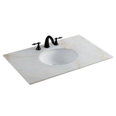 Undermount Oval Undermount Bathroom Sink with Overflow Sink Finish: White