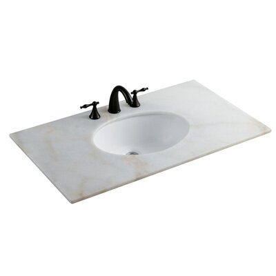 Undermount Oval Undermount Bathroom Sink with Overflow Sink Finish: White