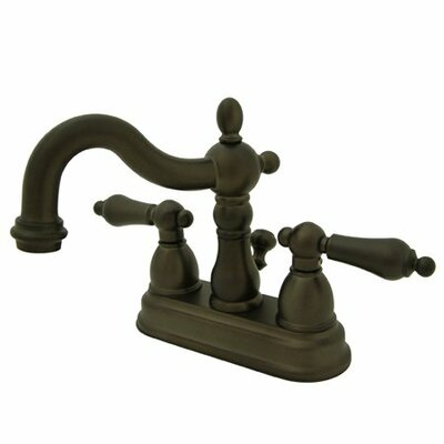 Centerset Double Handle Bathroom Faucet with Drain Assembly Finish: Oil Rubbed Bronze