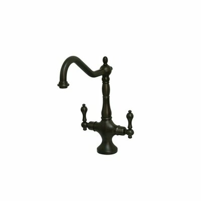Heritage Double Handle Single Hole Kitchen Faucet Finish: Oil Rubbed Bronze