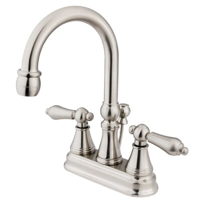 Madison Centerset Bathroom Faucet with Double Lever Handles Finish: Satin Nickel