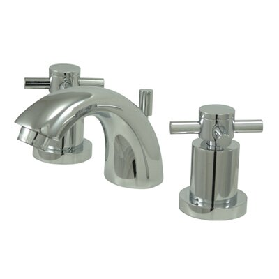 South Beach Double Cross Handle Mini-Widespread Bathroom Faucet Finish: Polished Chrome