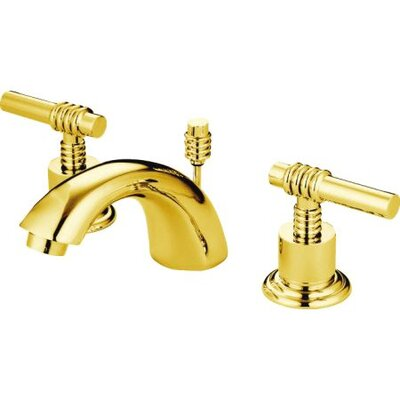 St. Charles Mini-Widespread Double Handle Bathroom Faucet with Drain Assembly Finish: Polished Brass