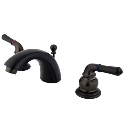 St. Charles Mini-Widespread Double Handle Bathroom Faucet with Drain Assembly Finish: Oil Rubbed Bronze