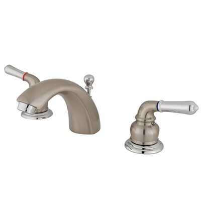 St. Charles Mini-Widespread Double Handle Bathroom Faucet with Drain Assembly Finish: Satin Nickel/Polished Chrome