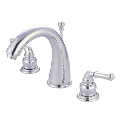 Widespread Double Handle Bathroom Faucet with Drain Assembly Finish: Chrome