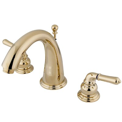 St. Charles Widespread Bathroom Sink Faucet with Double Lever Handles Finish: Polished Brass