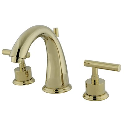 Sydney Double Handle Widespread Bathroom Faucet with Brass Pop-Up Finish: Polished Brass