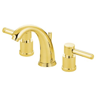 South Beach Double Handle Widespread Bathroom Faucet Finish: Polished Brass