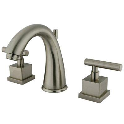 Rio Double Handle Widespread Bathroom Faucet with Pop-up Finish: Satin Nickel
