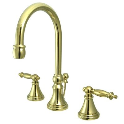 Widespread Bathroom Faucet with Double Lever Handles Finish: Polished Brass