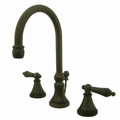 Madison Widespread Bathroom Faucet with Metal Lever Handle Finish: Oil Rubbed Bronze