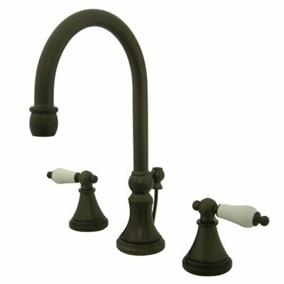 Madison Widespread Bathroom Faucet with Double Porcelain Lever Handles Finish: Oil Rubbed Bronze