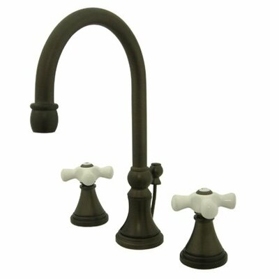 Madison Widespread Bathroom Faucet with Double Porcelain Cross Handles Finish: Oil Rubbed Bronze
