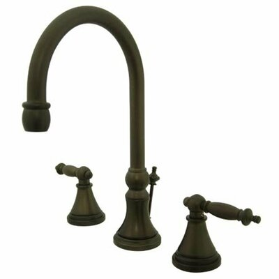 Widespread Bathroom Faucet with Double Lever Handles Finish: Oil Rubbed Bronze