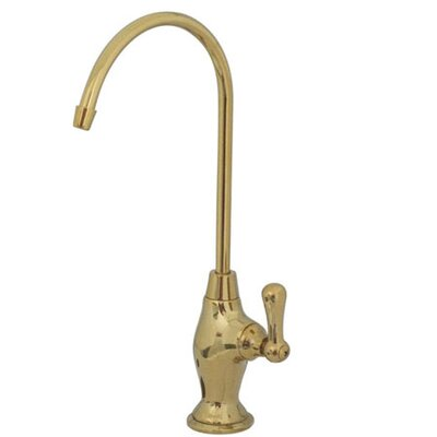 Filtration Single Handle Single Hole Kitchen Faucet with Metal Lever Handles Finish: Polished Brass