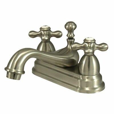 Centerset Bathroom Faucet with Double Cross Handles Finish: Satin Nickel