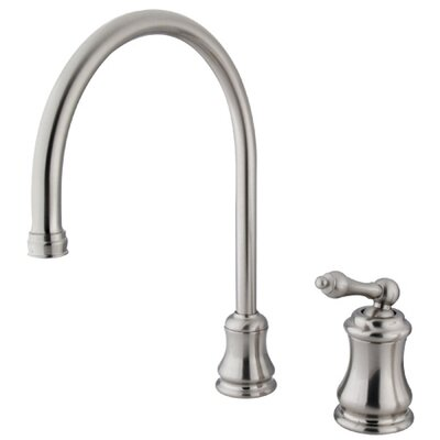 Restoration Widespread Kitchen Faucet with Buckingham Lever Handle Finish: Satin Nickel