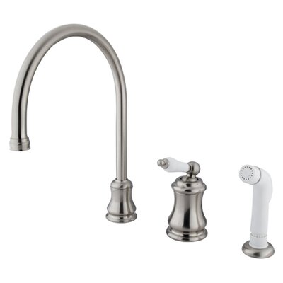 Touchless Single Handle Kitchen Faucet with Side Spray Finish: Satin Nickel