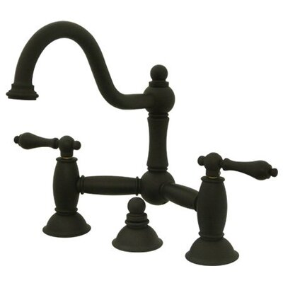 Cevterset Bathroom Faucet with Double Lever Handles Finish: Oil Rubbed Bronze