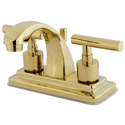 Sydney Centerset Double Handle Bathroom Faucet with Brass Pop-Up Finish: Polished Brass