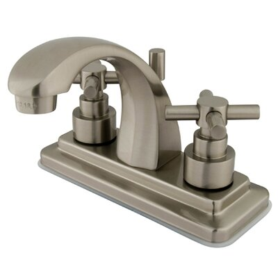 Tampa Centerset Bathroom Faucet with Double Cross Handles Finish: Satin Nickel